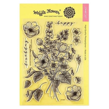 Waffle Flower BOUQUET BUILDER 3 Clear Stamps 271230*
