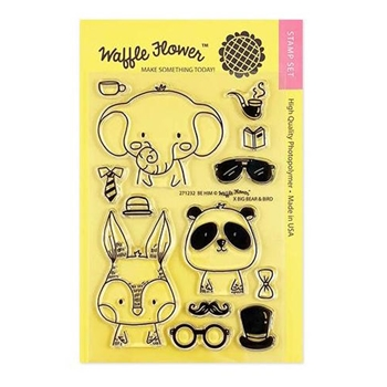 Waffle Flower BE HIM Clear Stamps 271232