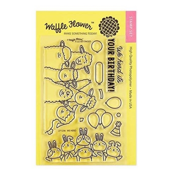 Waffle Flower WE HERD Clear Stamps 271236