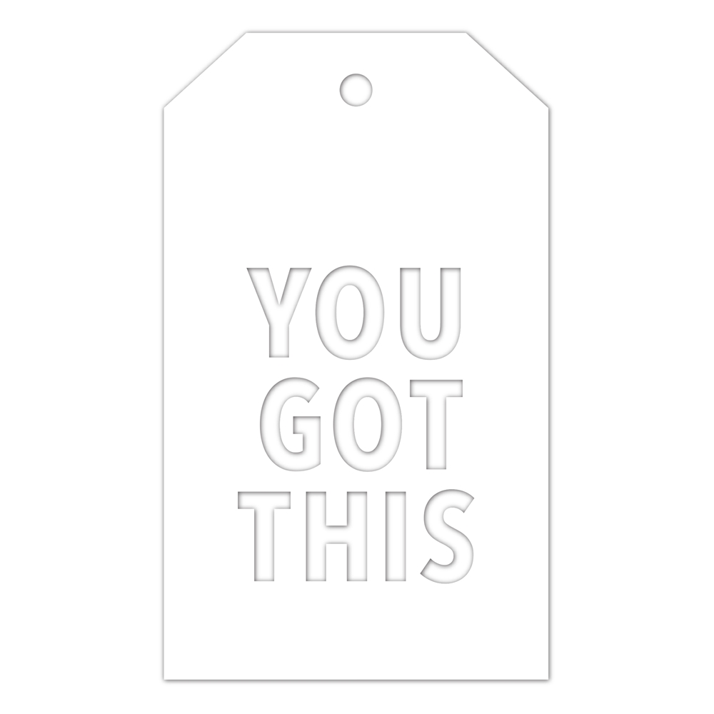CZ Design Wafer Dies YOU GOT THIS TAG czd49 Fresh Bloom zoom image