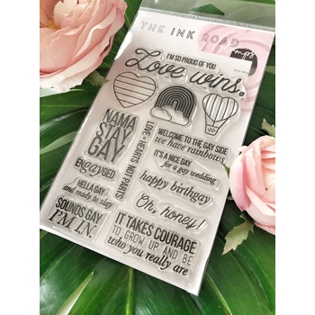The Ink Road LOVE WINS Clear Stamp Set inkr060