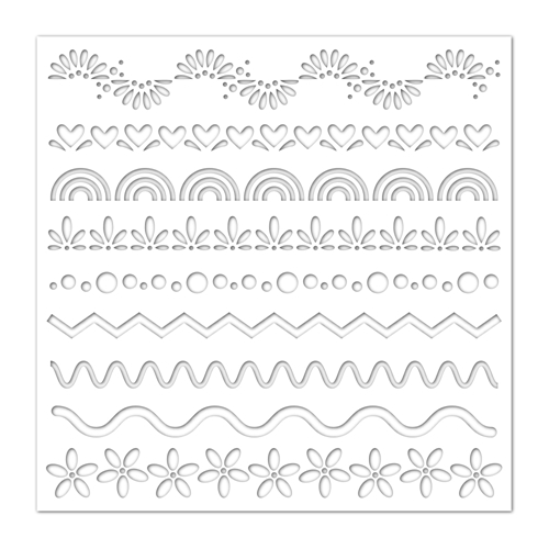 Simon Says Stamp Stencil DECORATIVE SEGMENTS ssst121436 Fresh Bloom Preview Image