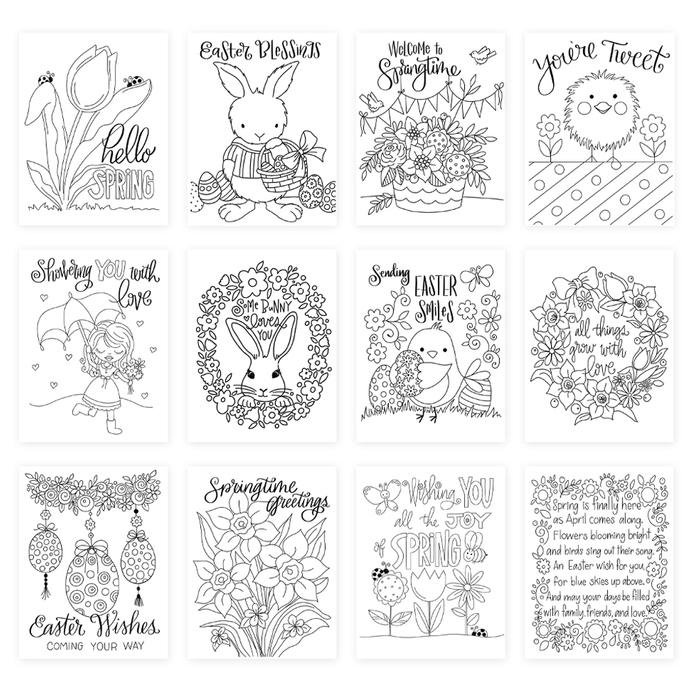 Simon Says Stamp Suzy's YOU'RE TWEET Watercolor Prints szwcyt19 Fresh Bloom zoom image