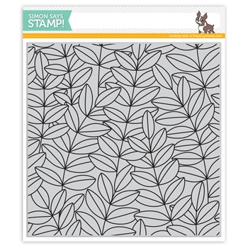 Simon Says Cling Rubber Stamp OUTLINE LEAVES BACKGROUND sss101960 Fresh Bloom