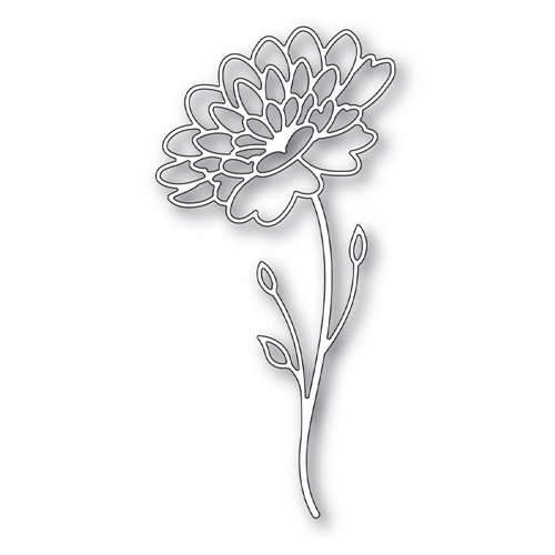 Simon Says Stamp DAHLIA STEM Wafer Die s644 Fresh Bloom Preview Image