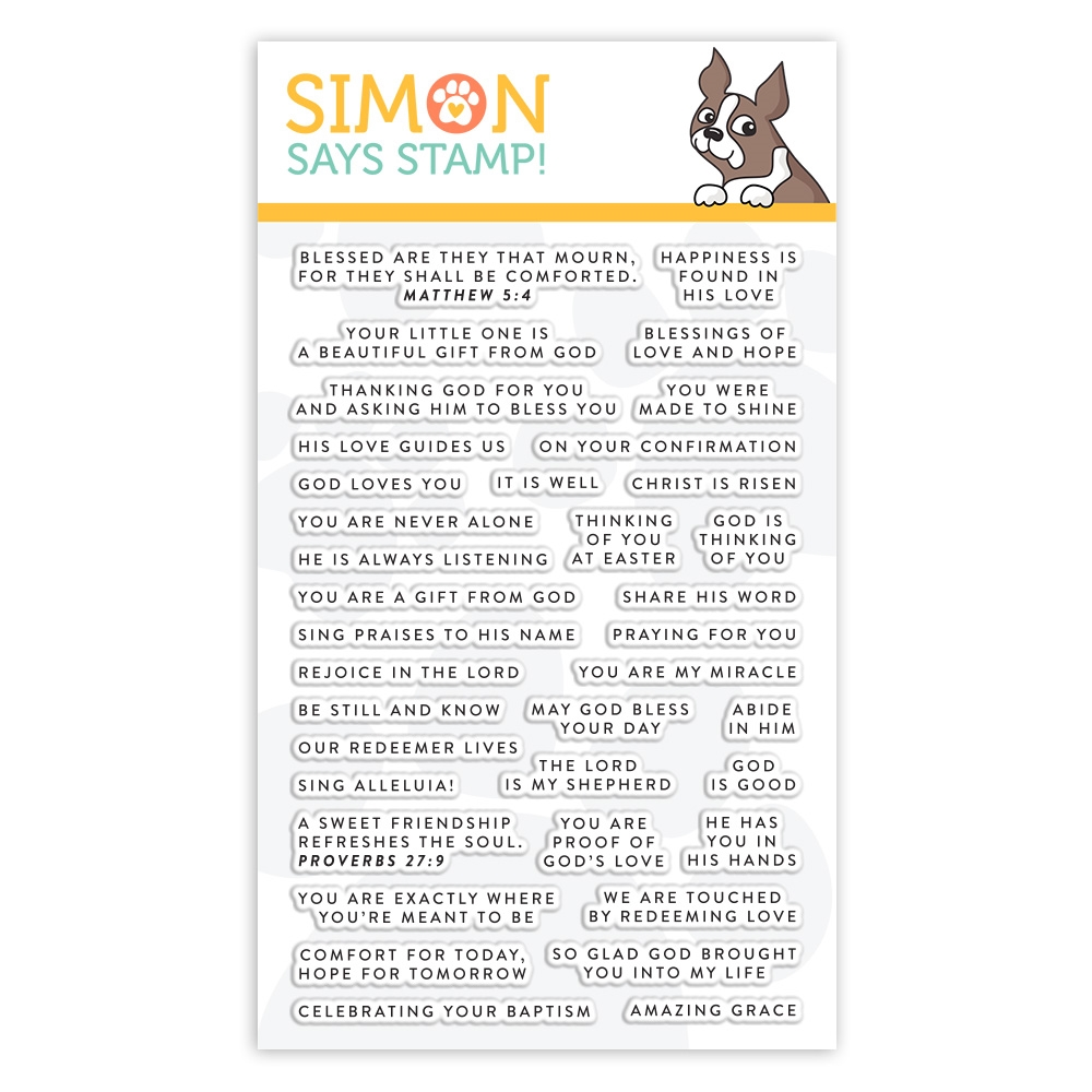 Simon Says Clear Stamps TINY WORDS FAITH sss101964 Fresh Bloom zoom image