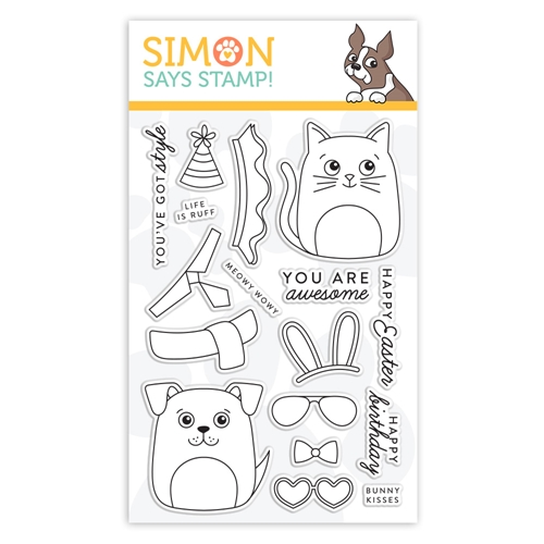 Simon Says Clear Stamps DOG & CAT DRESS UP sss101948 Fresh Bloom Preview Image
