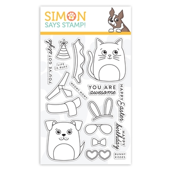 Simon Says Clear Stamps DOG & CAT DRESS UP sss101948 Fresh Bloom