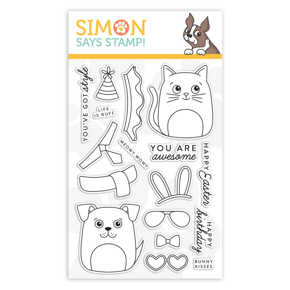 Simon Says Clear Stamps DOG & CAT DRESS UP sss101948 Fresh Bloom zoom image