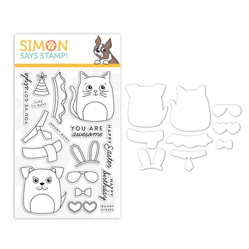 Simon Says Stamps And Dies DOG & CAT DRESS UP set0319dac Fresh Bloom