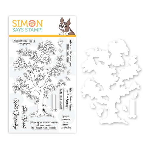 Simon Says Stamps And Dies BLOSSOMING set0319bg Fresh Bloom Preview Image