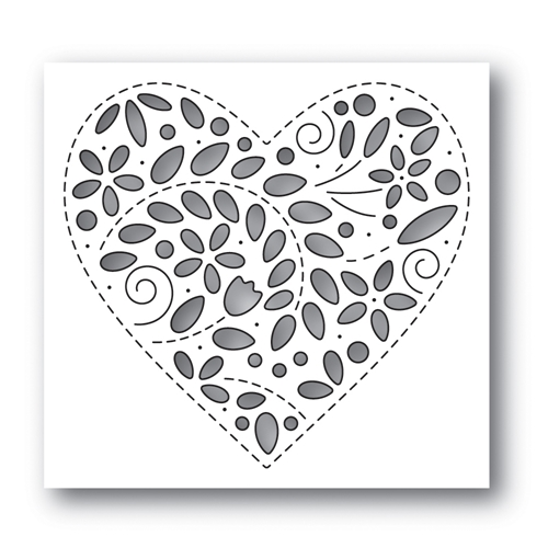 Simon Says Stamp FILIGREE HEART Wafer Die s637 Fresh Bloom Preview Image