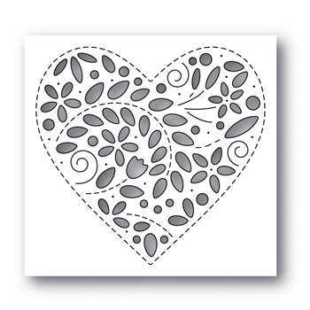 Simon Says Stamp FILIGREE HEART Wafer Die s637 Fresh Bloom