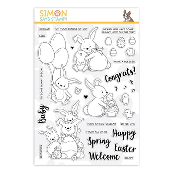 Simon Says Clear Stamps BUNNY WISHES sss201963 Fresh Bloom