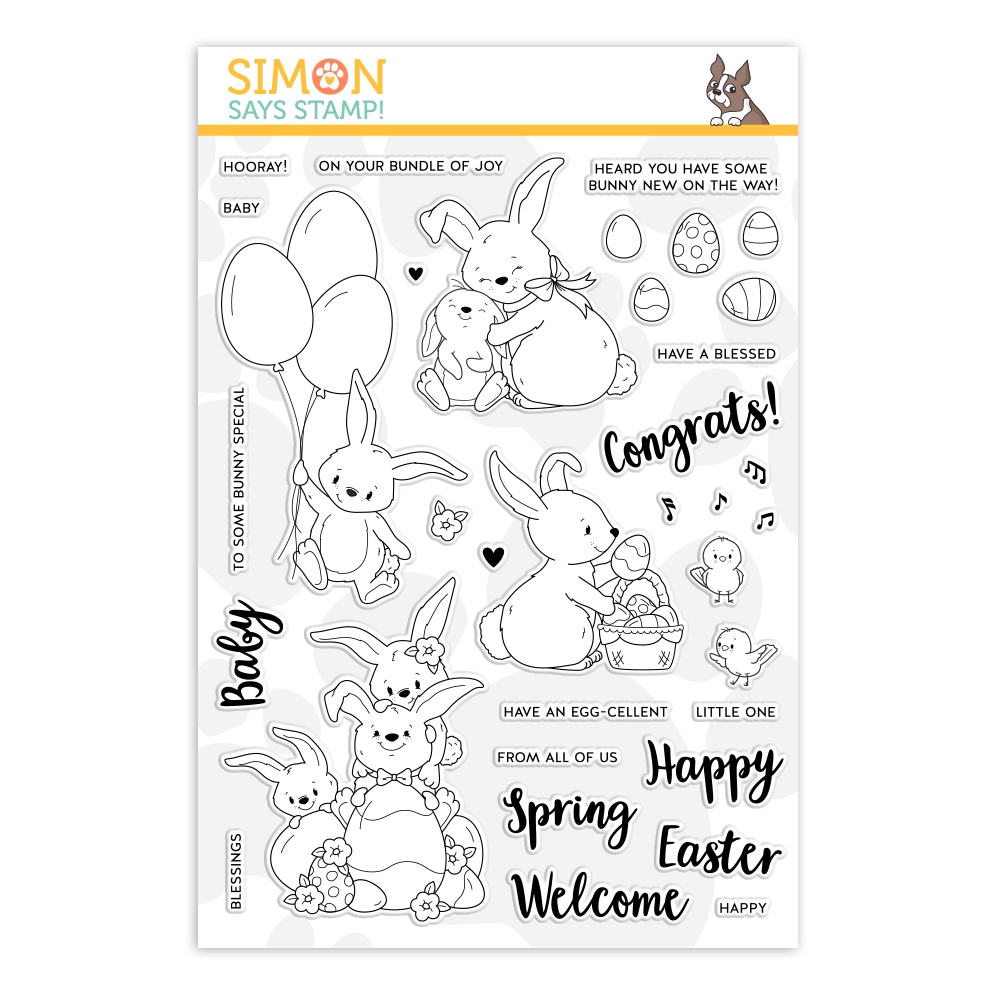 Simon Says Clear Stamps BUNNY WISHES sss201963 Fresh Bloom zoom image