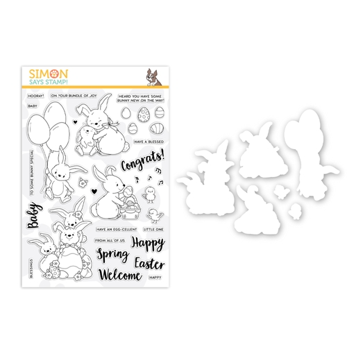 Simon Says Stamps And Dies BUNNY WISHES set0319bw Fresh Bloom Preview Image