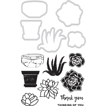Kaisercraft SUCCULENTS Die and Stamp Set DD996