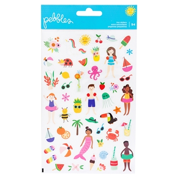 Pebbles Inc. OH SUMMERTIME Clear Stickers 734087