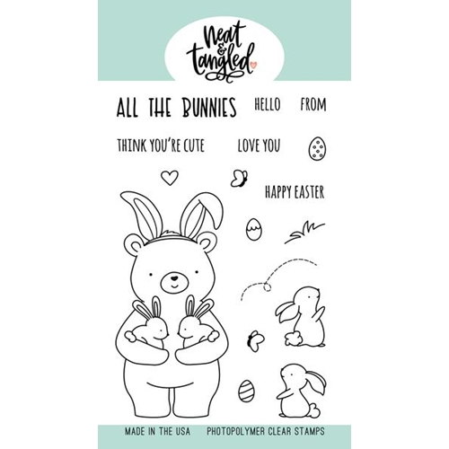 Neat and Tangled ALL THE BUNNIES Clear Stamps NAT462 Preview Image