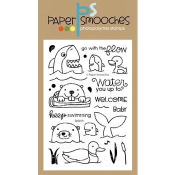 Paper Smooches SPLASH Clear Stamps M1S303