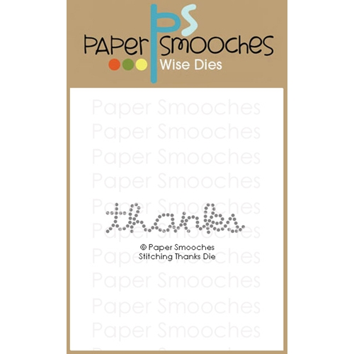 Paper Smooches STITCHING THANKS Wise Dies M1D430 Preview Image
