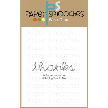 Paper Smooches STITCHING THANKS Wise Dies M1D430