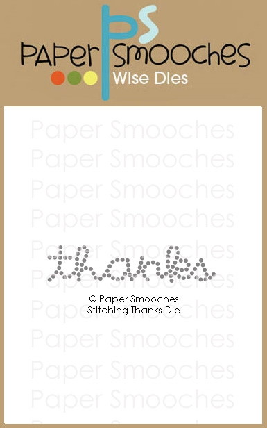 Paper Smooches STITCHING THANKS Wise Dies M1D430 zoom image