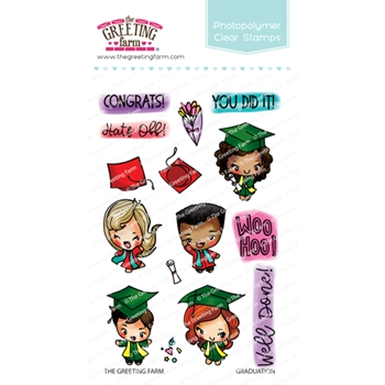 The Greeting Farm GRADUATION Clear Stamps TGF467