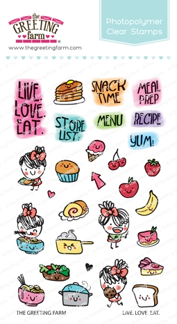 The Greeting Farm LIVE LOVE EAT Clear Stamps TGF466 zoom image