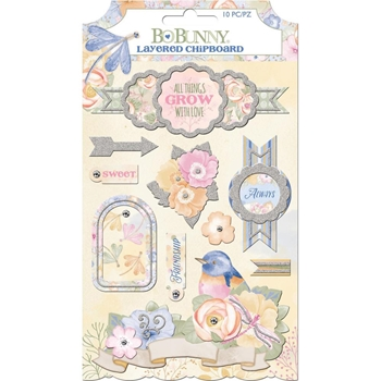 BoBunny HARMONY Layered Chipboard 7310469