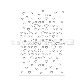 Alexandra Renke GRID OF HEARTS Clear Stamp astarmu0004