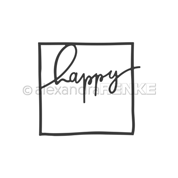 Alexandra Renke FRAMED HAPPY Dies darty0061