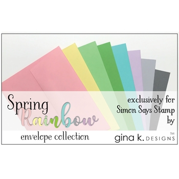 Gina K Designs SPRING RAINBOW 24 Pack A2 Envelope Collection 4175