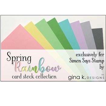Gina K Designs SPRING RAINBOW 24 Pack 8.5 x 11 Inch Cardstock 4176