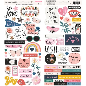 Crate Paper ALL HEART 6 x 12 Stickers 350860