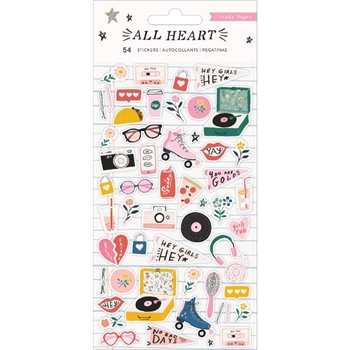 Crate Paper ALL HEART Puffy Stickers 350863