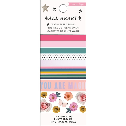 Crate Paper ALL HEART Washi Tape 350864 Preview Image