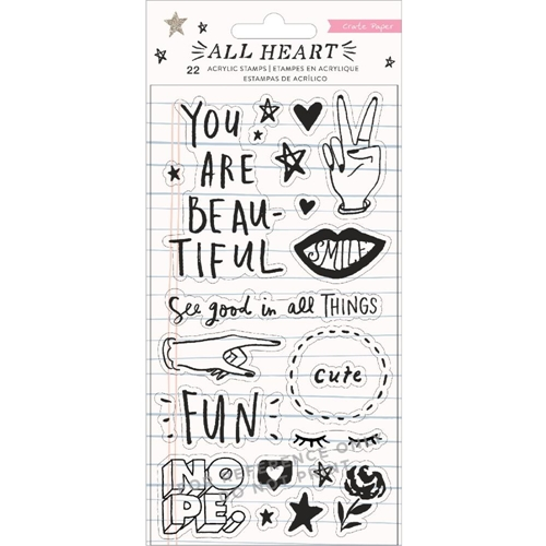 Crate Paper ALL HEART Clear Stamps 350867 Preview Image