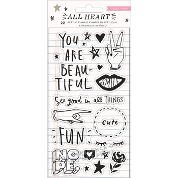 Crate Paper ALL HEART Clear Stamps 350867
