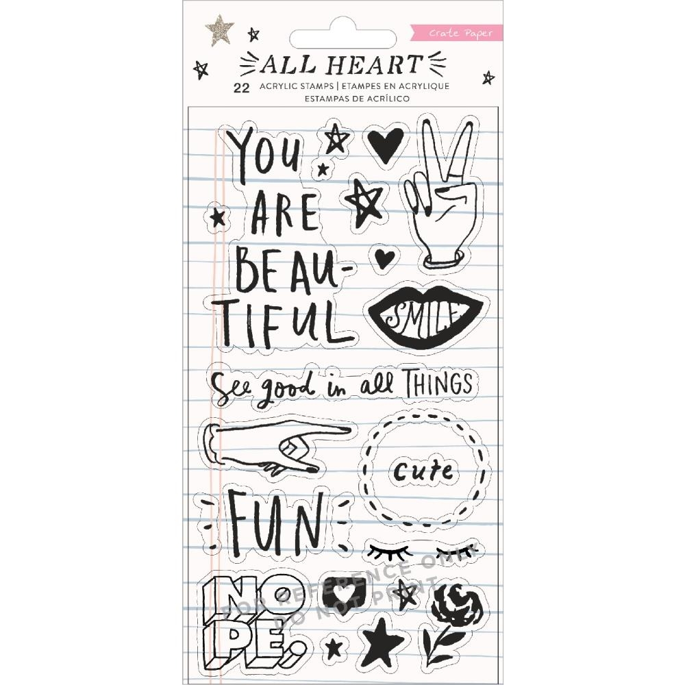 Crate Paper ALL HEART Clear Stamps 350867 zoom image