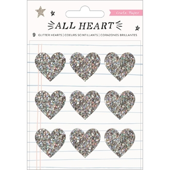 Crate Paper ALL HEART Glitter Stickers 350868