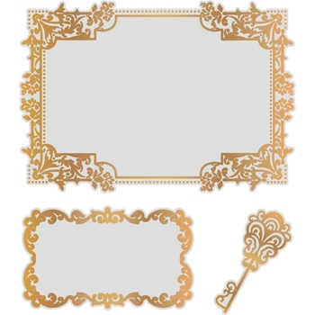 Couture Creations NESTING TREASURED FRAMES Cut, Foil & Emboss Die co726468