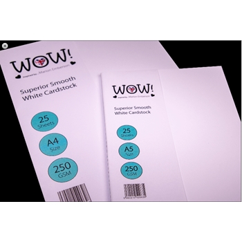 WOW Superior Smooth WHITE CARDSTOCK SIZE A5 WV15A5