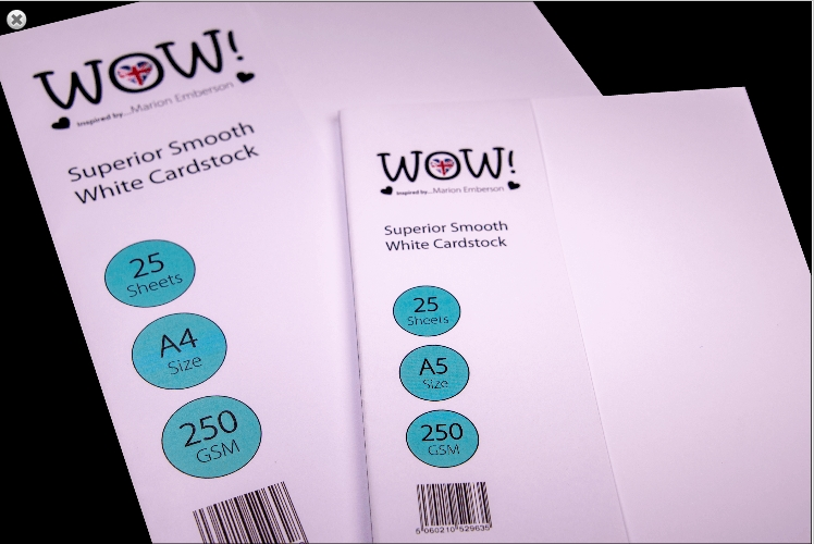 WOW Superior Smooth WHITE CARDSTOCK SIZE A5 WV15A5 zoom image