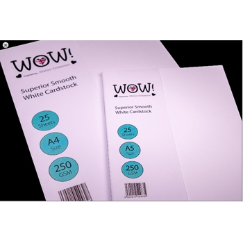 WOW Superior Smooth WHITE CARDSTOCK SIZE A4 WV15A4