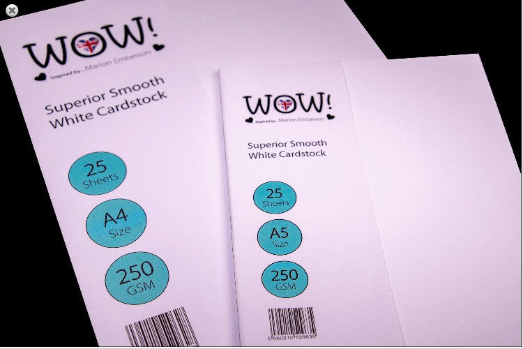 WOW Superior Smooth WHITE CARDSTOCK SIZE A4 WV15A4 zoom image