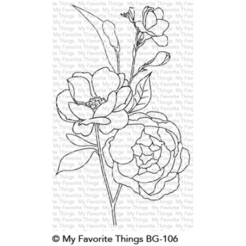 My Favorite Things FRESH CUT FLOWERS Background Cling Stamp BG106