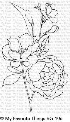 My Favorite Things FRESH CUT FLOWERS Background Cling Stamp BG106 zoom image