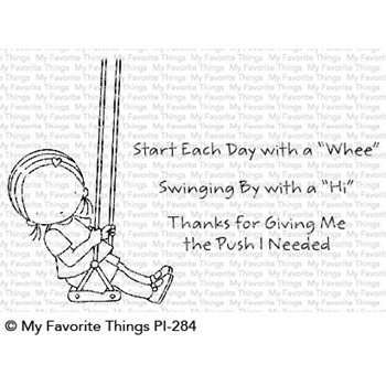 Pure Innocence START EACH DAY WITH A WHEE Clear Stamps PI284
