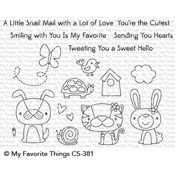 My Favorite Things CUTE CRITTERS Clear Stamps CS381